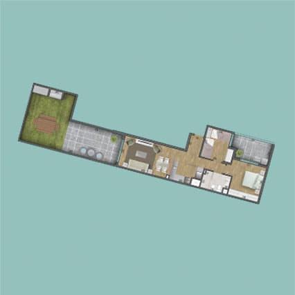Imagen del Plano de las Unidad 105 del Edificio BV2031
