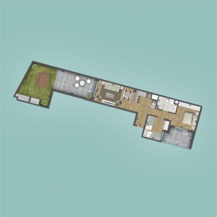 Imagen del Plano de las Unidad 108 del Edificio BV2031